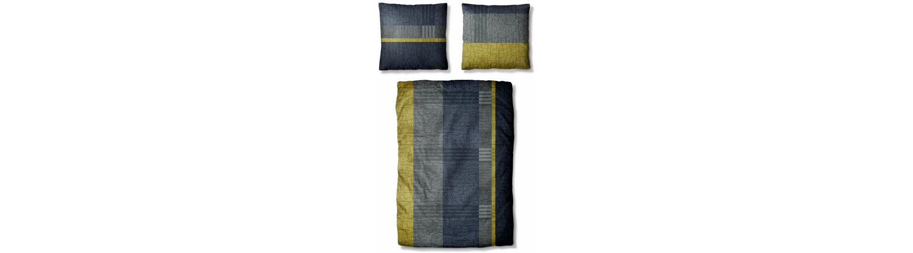 Bettwäsche, Auro Hometextile, »James«, mit Streifen Muster