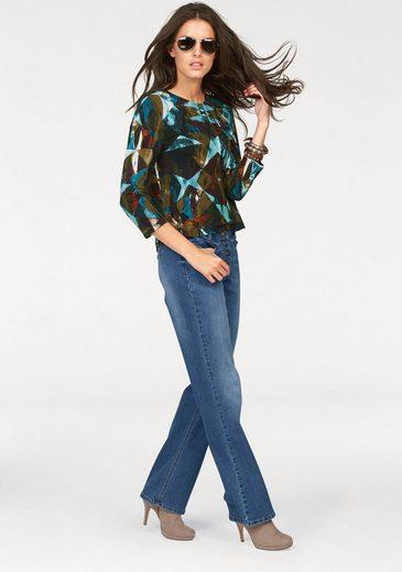 Aniston Bootcut-Jeans, mit Knopfverschluss