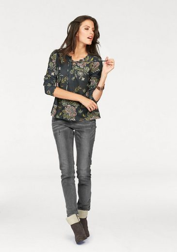 Aniston Langarmshirt In Linen Optics
