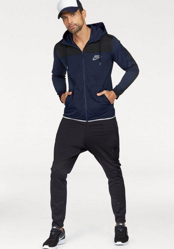 Nike Trainingsanzug »NSW AV15 TRACKSUIT POLYKNIT« in dunkelblau-schwarz