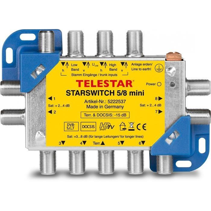 TELESTAR Multischalter zur Verteilung von 4 ZF-Ebenen »STARSWITCH 5/8 mini« in blau-gelb