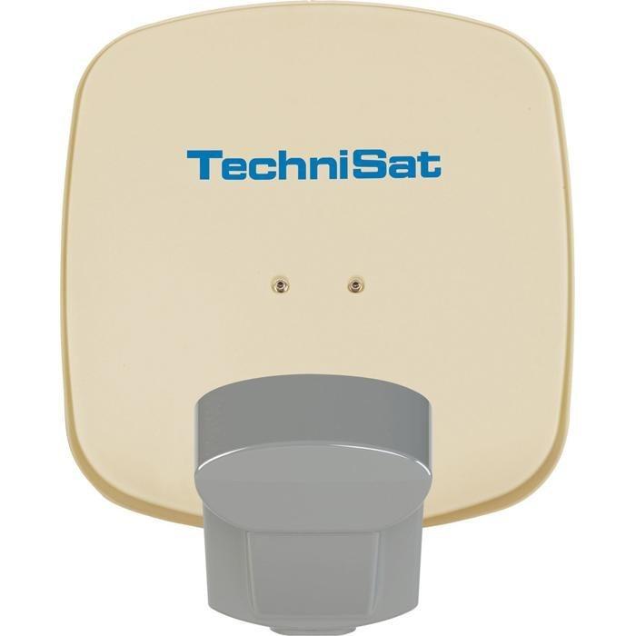TechniSat Sat-Antenne 45 cm mit DuoSat-Twin-LNB »Multytenne DuoSat mit DuoSat-Single-LNB« in beige