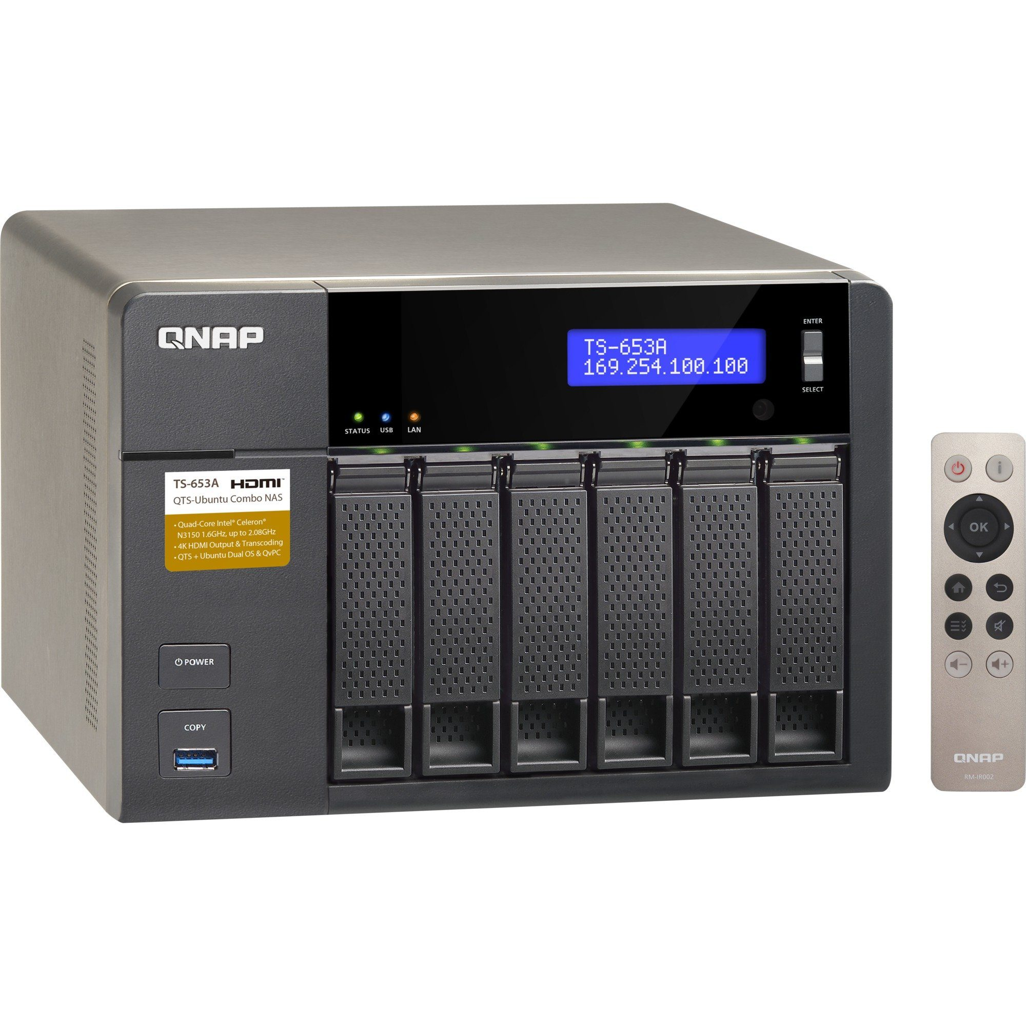 """QNAP NAS »TS-653A 4x1,6Ghz/4GB/6x3,5""""«"""