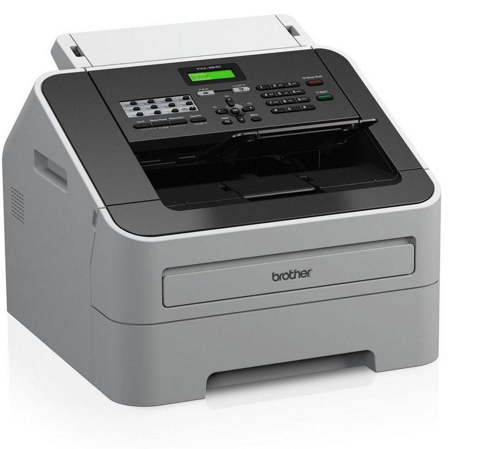 Brother Faxgerät »FAX-2840 Laserfax« in Grau-Schwarz