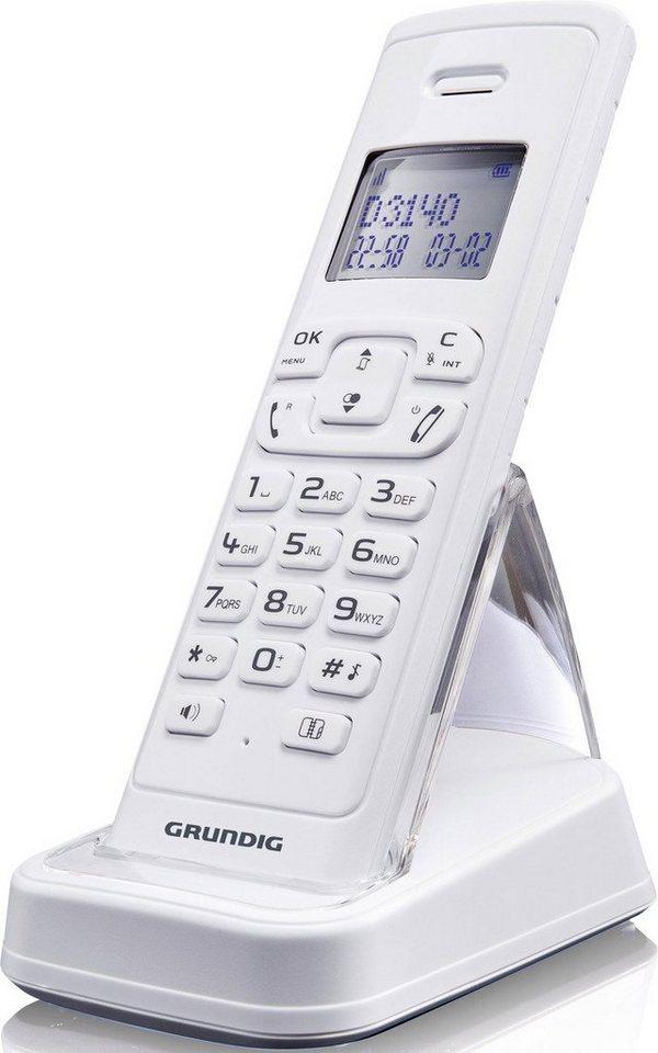 Grundig Telefon analog schnurlos »D3140« in Weiß