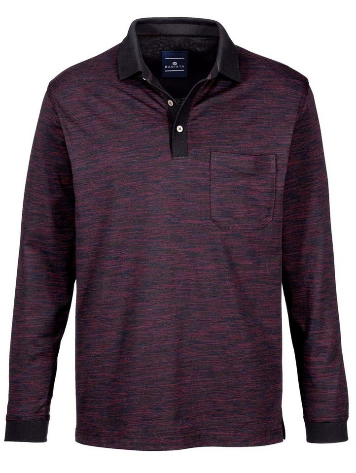 Babista Poloshirt in mehrfarbiger Optik in bordeaux-schwarz