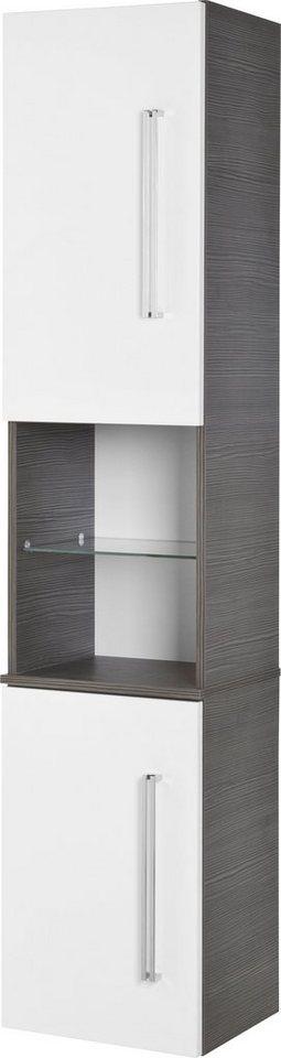 Hochschrank »Lugano«, Breite 35,5 cm in piniefarben/weiß