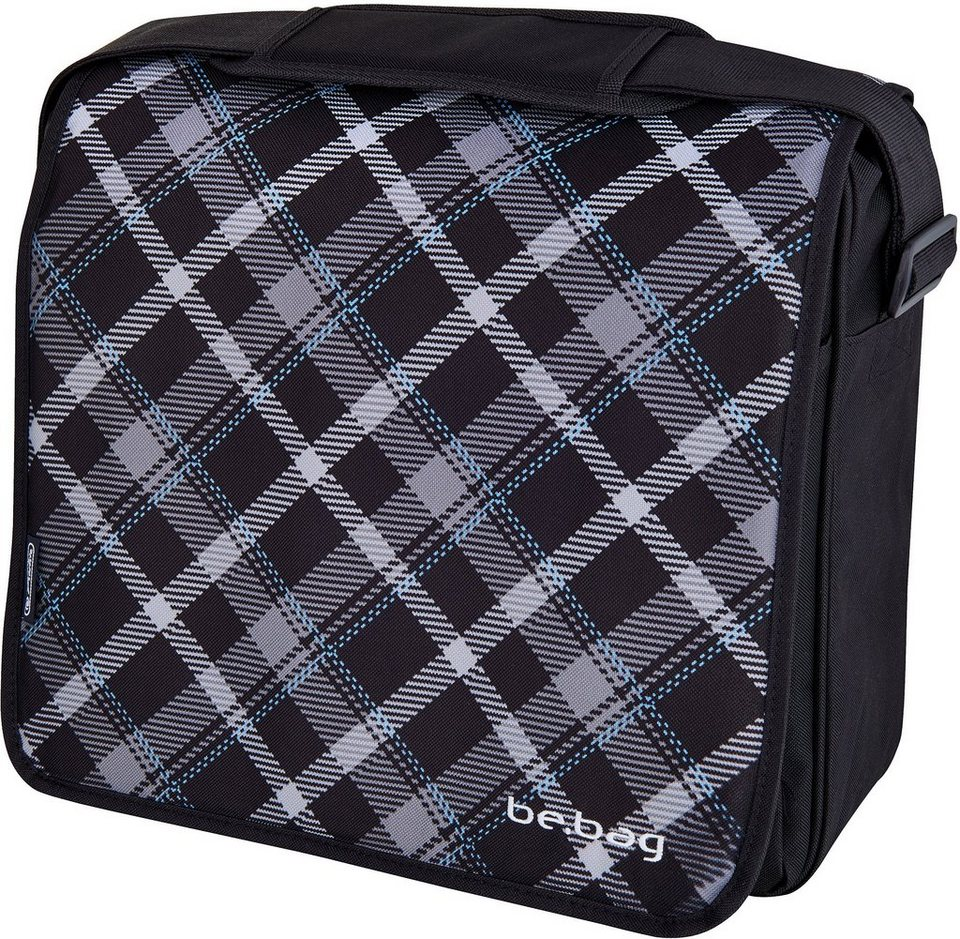 Herlitz Umhängetasche mit Laptopfach, »be.bag Messenger Bag, Black Checked«
