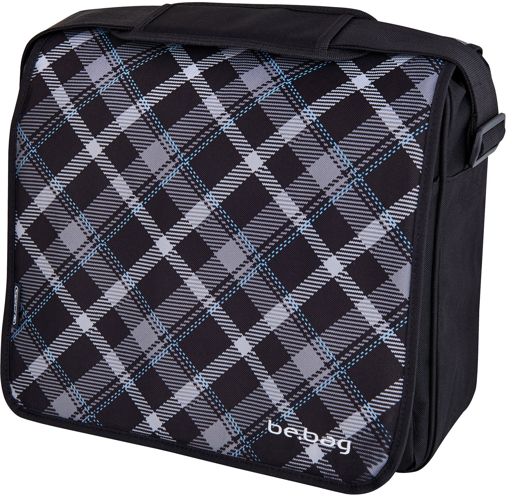 Herlitz Umhängetasche mit Laptopfach, »be.bag Messenger Bag, Black Checked«