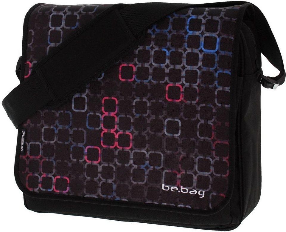 Herlitz Umhängetasche mit Laptopfach, »be.bag Messenger, Bag Squares«