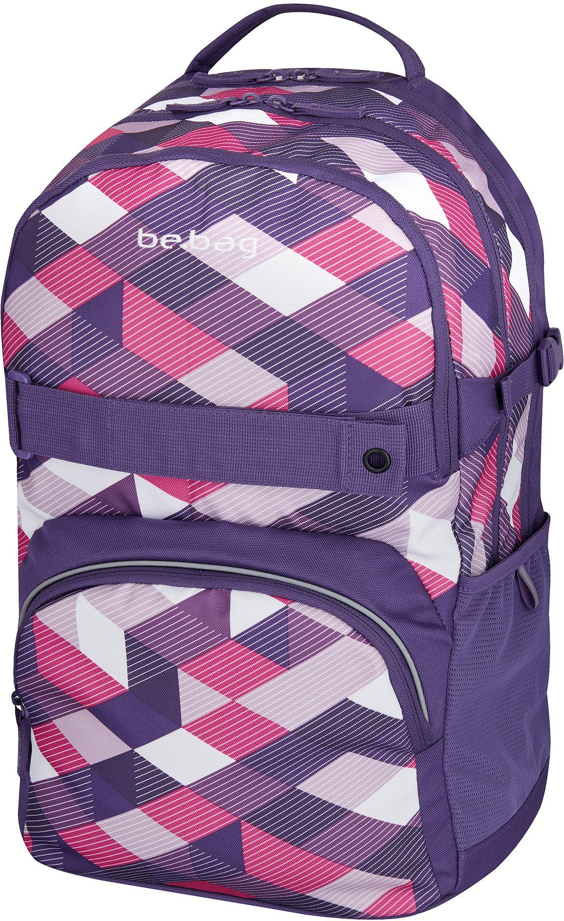 Herlitz Schulrucksack, »be.bag cube, Purple Checked«