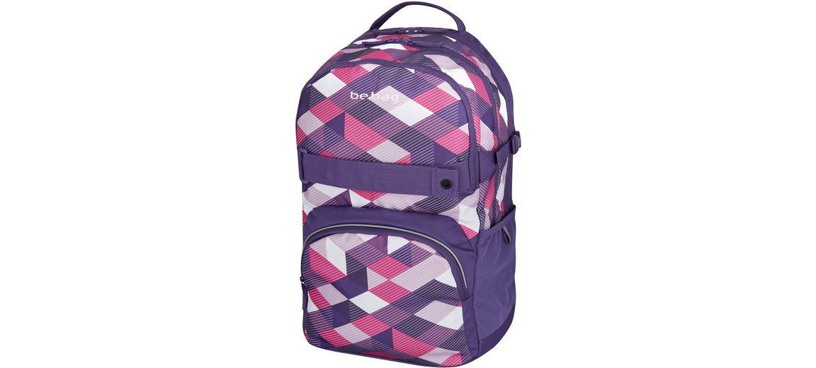 Herlitz Schulrucksack, »be.bag cube, Purple Checked«