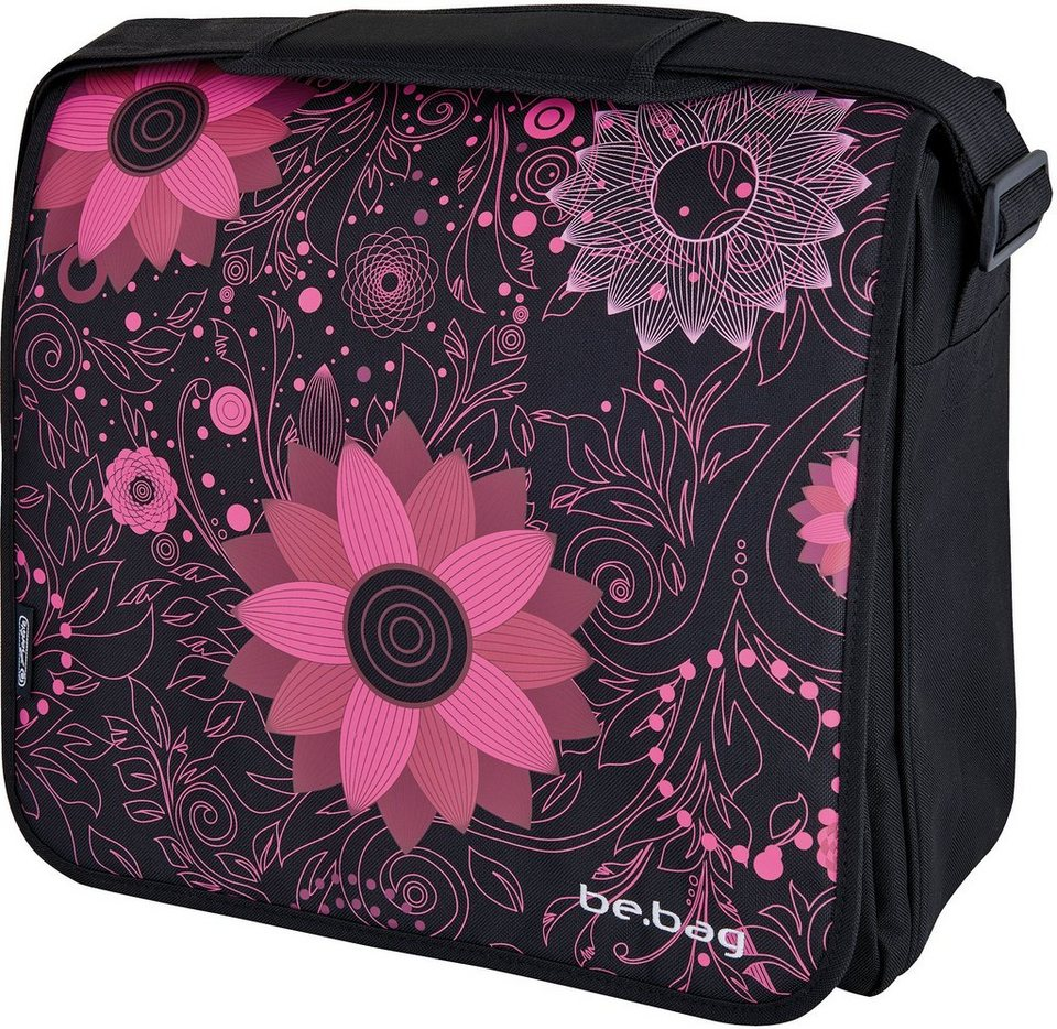 Herlitz Umhängetasche mit Laptopfach, »be.bag Messenger Bag, Ornament Flowers«