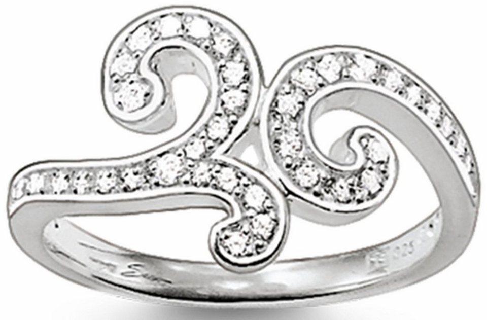 Thomas Sabo Fingerring »Ring, TR1953-051-14-50, 54, 58, 60« mit Zirkonia in Silber 925
