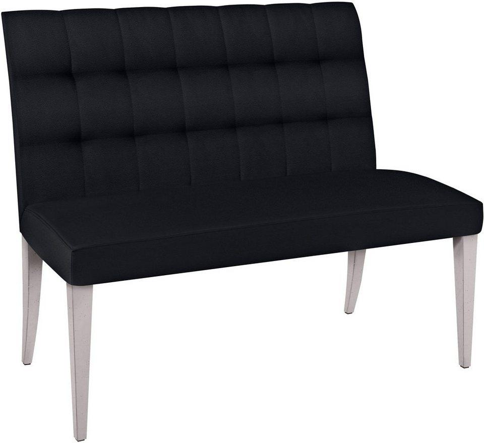 SELVA 2-Sitzer Polsterbank »Eliza« Modell 1397, Massivholzgestell in cremeweiß Vintage in Kunstleder King DARK
