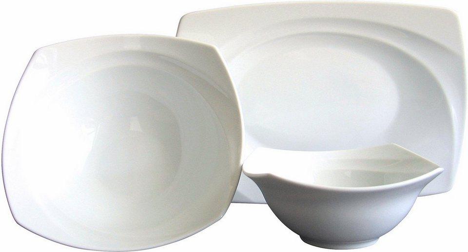 Servier-Set, 3-teilig, »Celebration«, in weiß in weiß