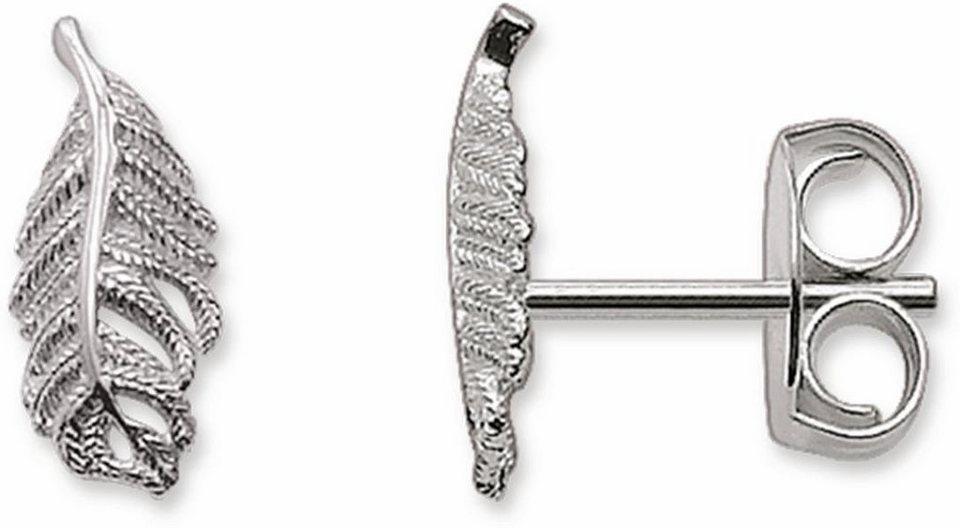 Thomas Sabo Paar Ohrstecker »Blatt, H1789-001-12« in Silber 925