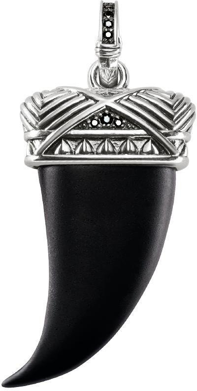 Thomas Sabo Kettenanhänger »Zahn, PE723-641-11« mit Onyx und mit Zirkonia in Silber 925-schwarz
