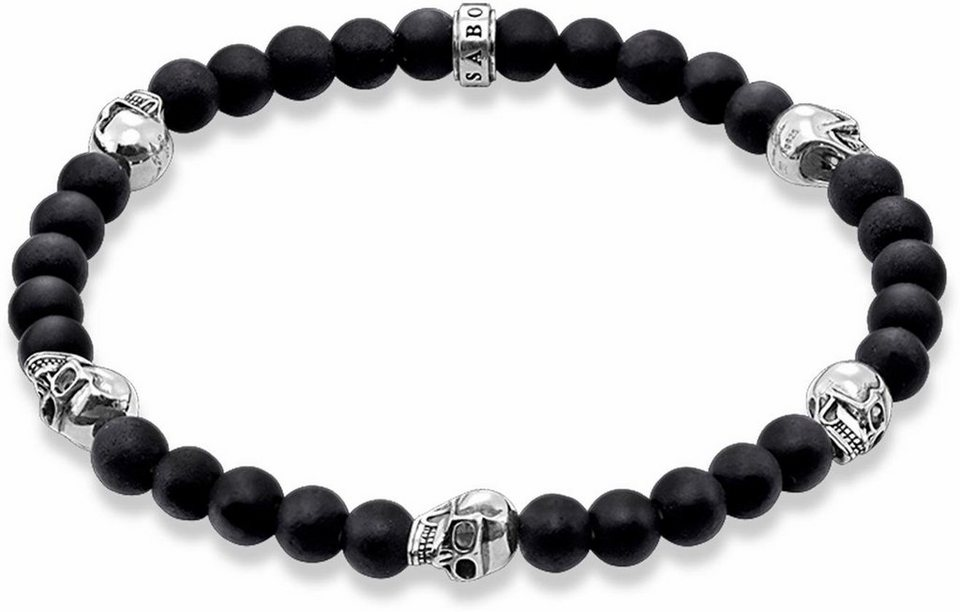 thomas sabo armband totenkopf a1097 023 11 mit obsidian online kaufen otto. Black Bedroom Furniture Sets. Home Design Ideas
