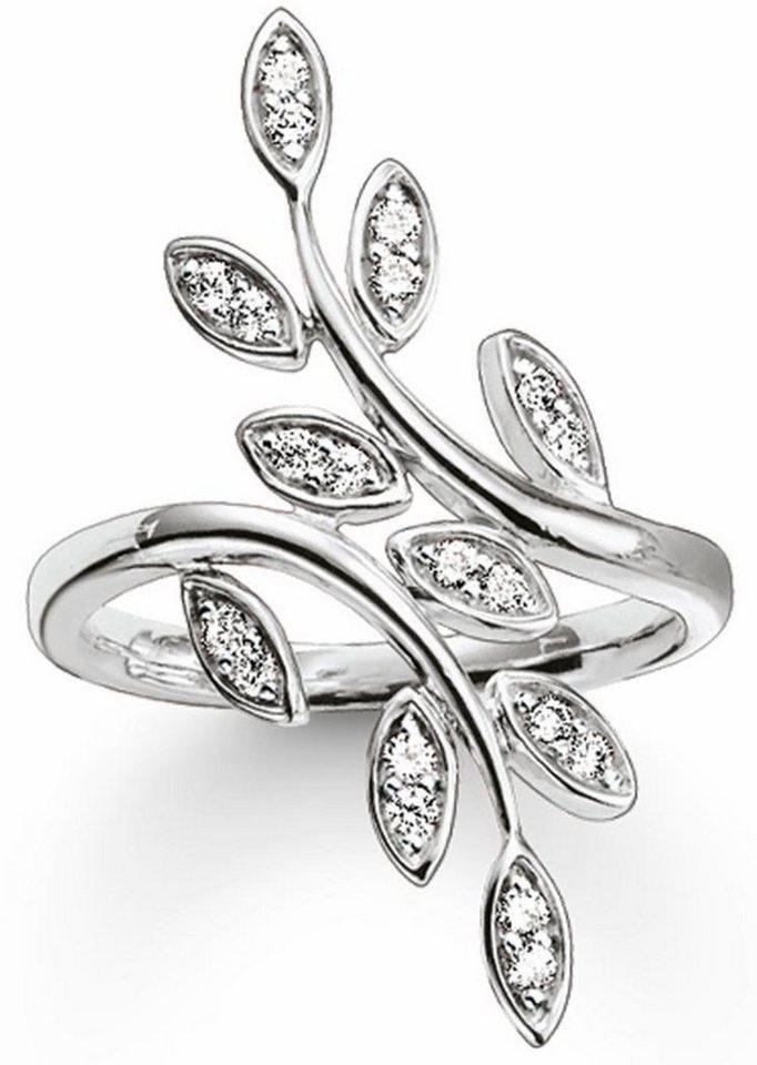 Thomas Sabo Fingerring »Ring, TR2017-051-14-50, 54, 58, 60« mit Zirkonia in Silber 925