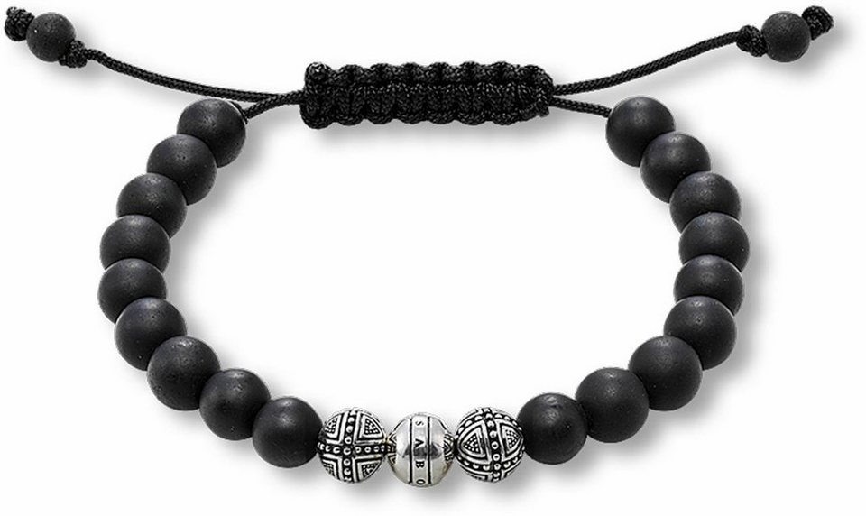 Thomas Sabo Armband »A1117-172-11-M, L« mit Obsidian in Silber 925