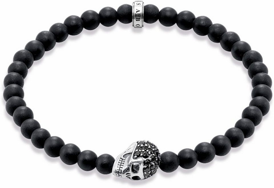 thomas sabo armband totenkopf a1270 159 11 mit zirkonia und obsidian online kaufen otto. Black Bedroom Furniture Sets. Home Design Ideas