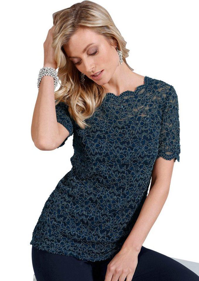 Lady Shirt mit Stretch-Anteil in blau