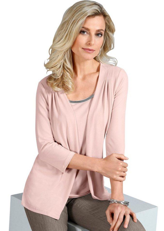 Lady Shirt in 2-in-1-Optik in rosé
