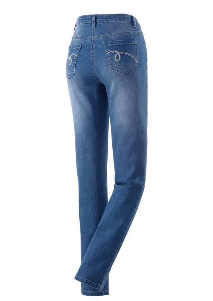 Classic Inspirationen Jeans in klassischer 5-Pocket-Form in blue-bleached