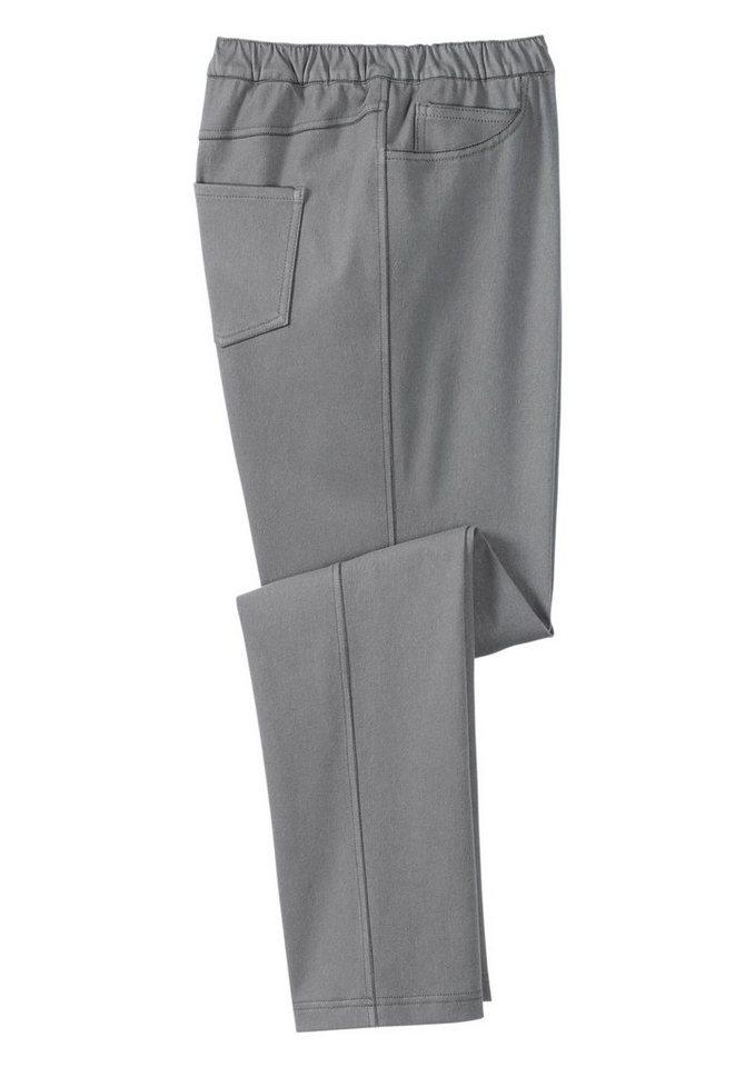 Classic Basics Schlupfjeans mit hohen Elasthan-Anteil in grey-denim