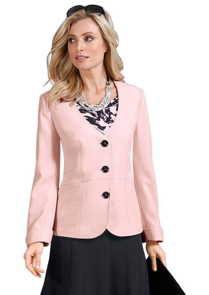 Lady Blazer mit tiefem V-Ausschnitt in rosé