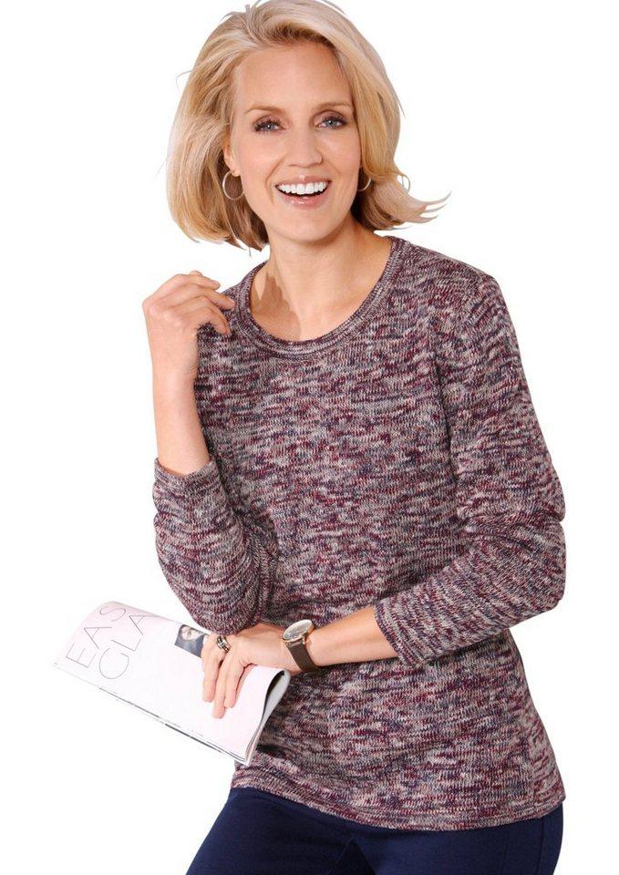 Classic Basics Pullover in aktuellem Multicolor-Garn in bunt