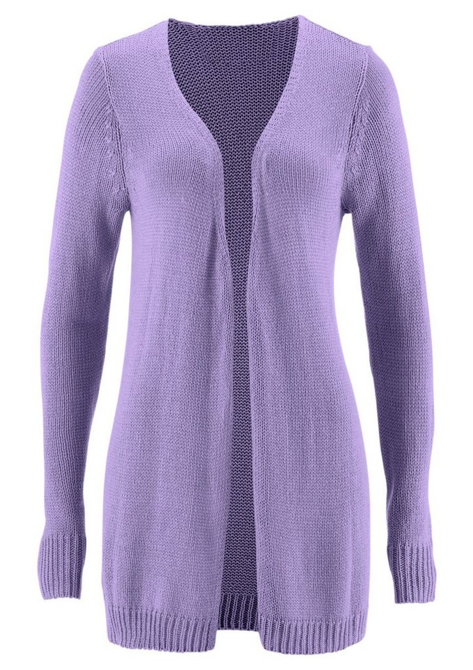 Classic Inspirationen Strickjacke in etwas längerer Form in lavendel