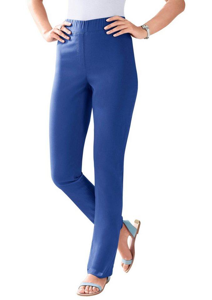 Classic Basics Hose in hochwertiger Bengalin-Qualität in blau