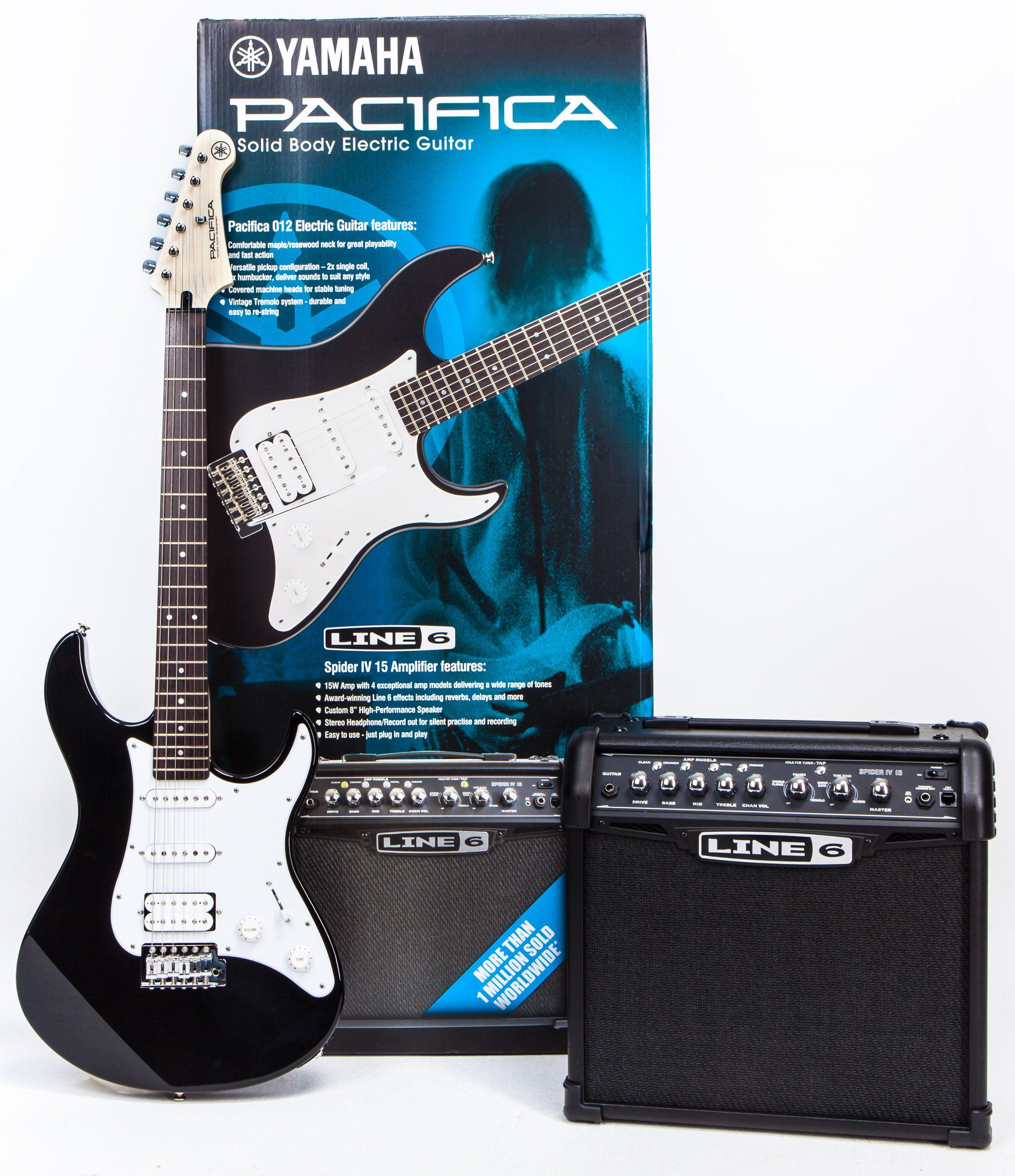 Yamaha Set E-Gitarre mit Verstärker, »PACIFICA 012 & Line 6 Spider 15 Paket«