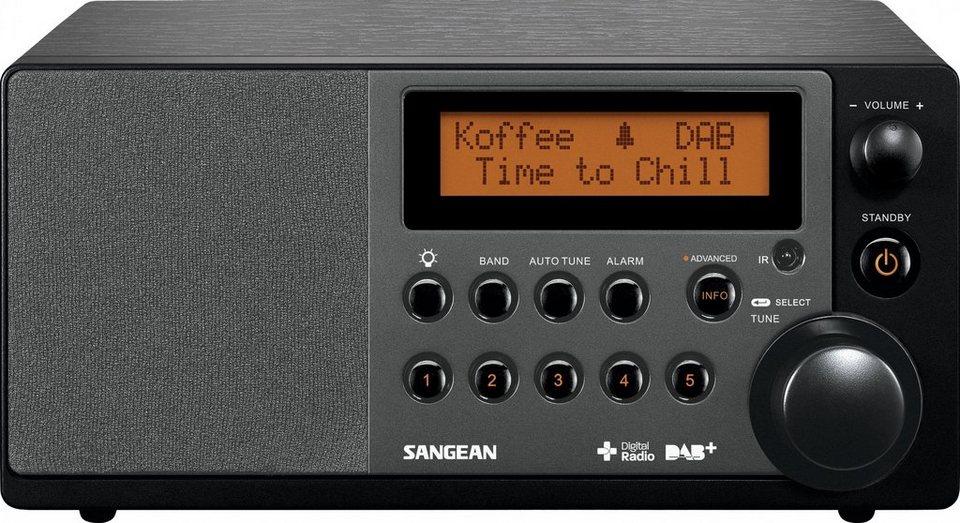 Sangean Tischradio in elegantem Holzgehäuse (DAB+/UKW, AUX-In) »DDR-31+« in Schwarz