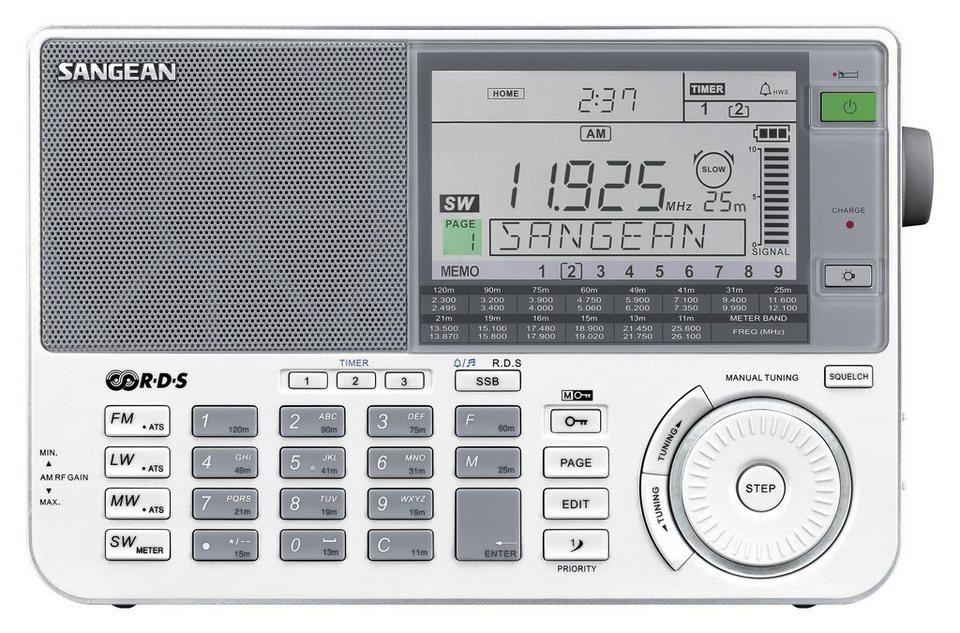 Sangean Weltempfänger (UKW/MW/KW/LW, inkl. Tasche und Kopfhörer) »ATS-909X weiß« in Weiß