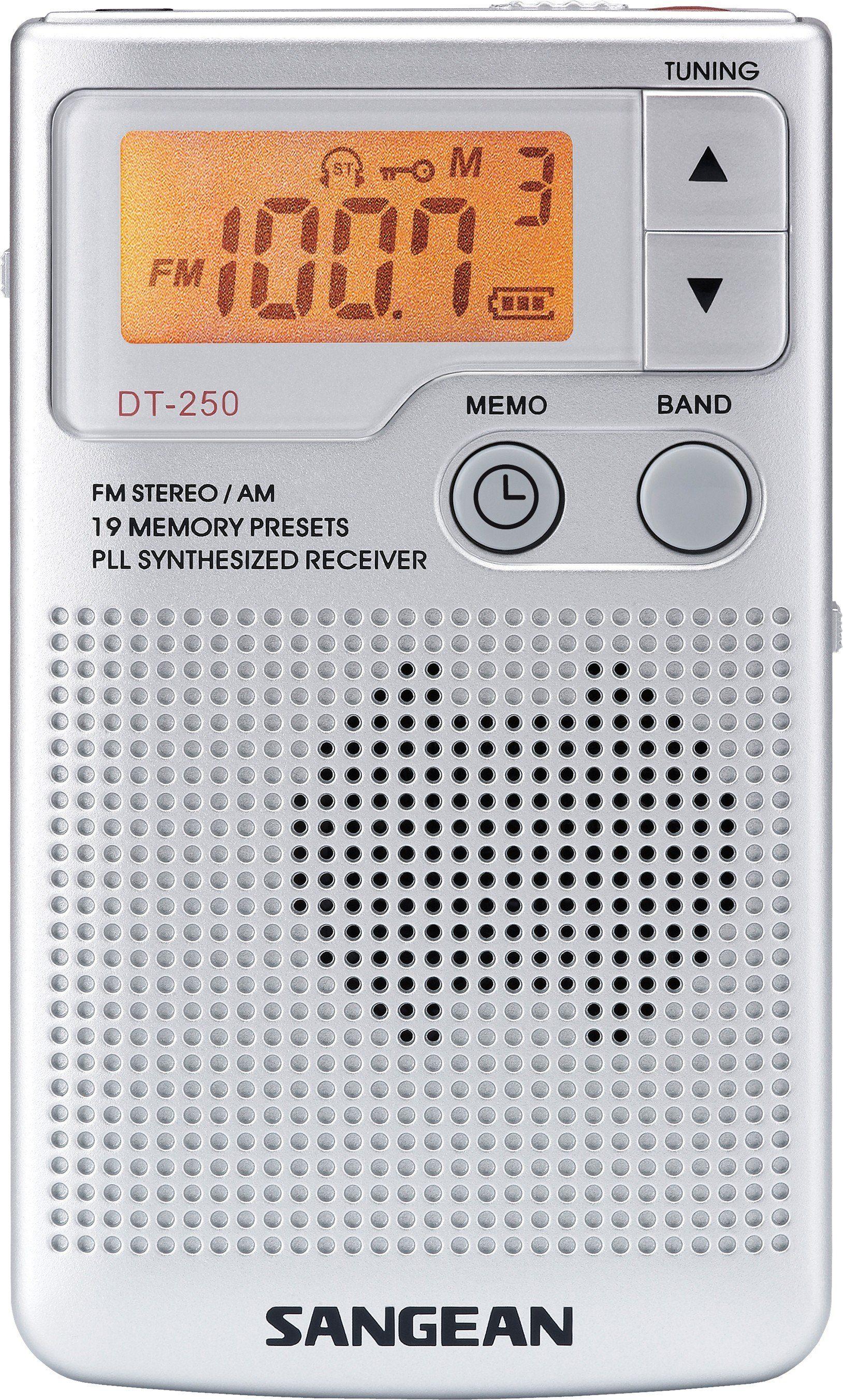 Sangean kompaktes Taschenradio (UKW/MW, inkl. Kopfhörer) »DT-250«