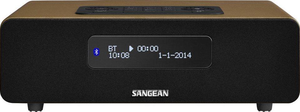 Sangean digitales Tischradio (DAB+/UKW, Bluetooth, Dual-Alarm, AUX-In) »DDR-36 braun« in Braun