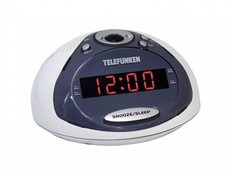 Telefunken Radiowecker »R1005 weiß« in Weiß