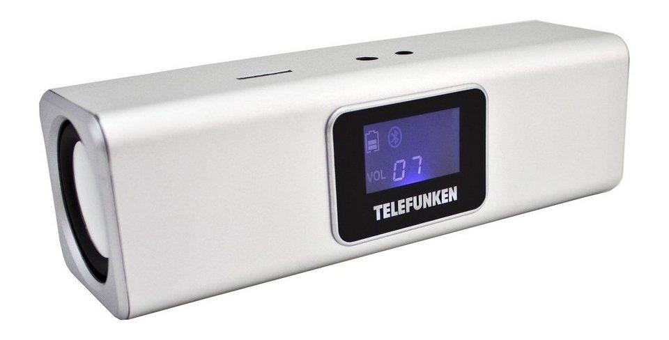 Telefunken Bluetooth-Lautsprecher »BS1005M silber« in Silber