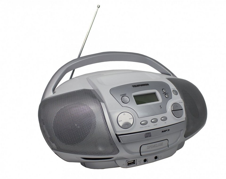 Telefunken tragbares MP3-CD-Radio »RC1001M« in Silber