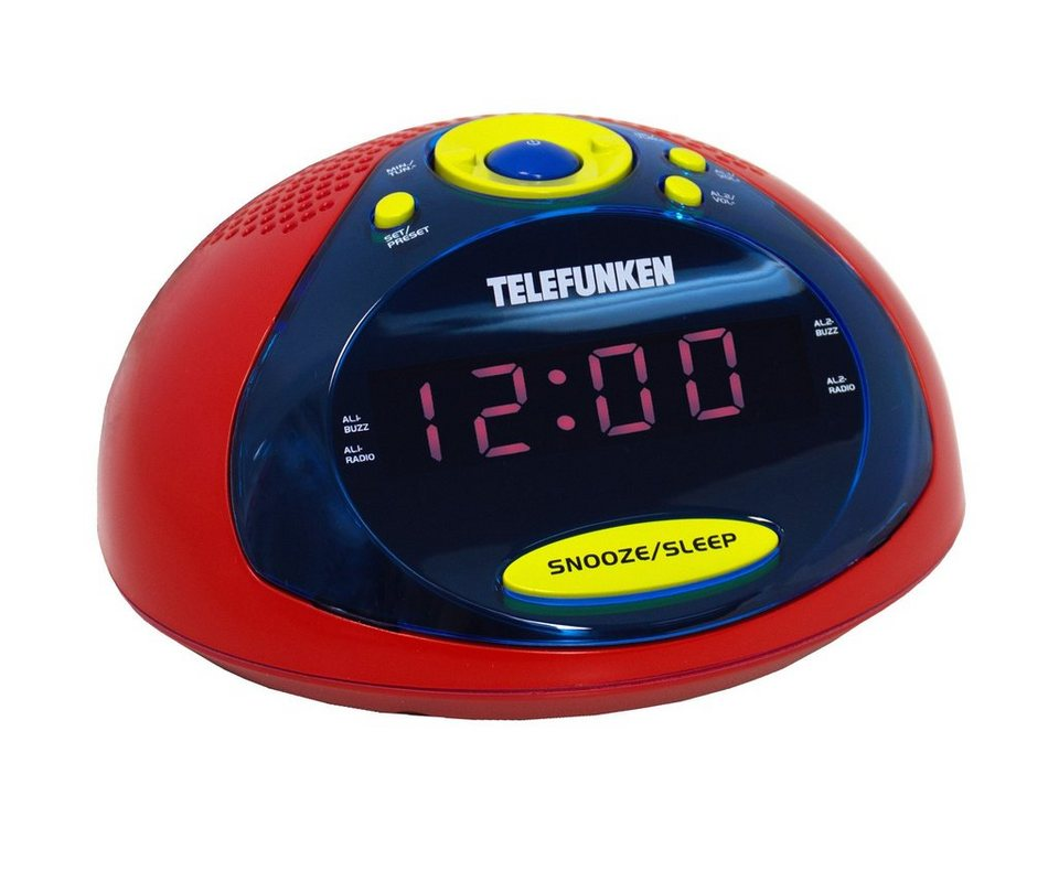 Telefunken Radiowecker »R1005 rot/gelb/blau« in Farbig