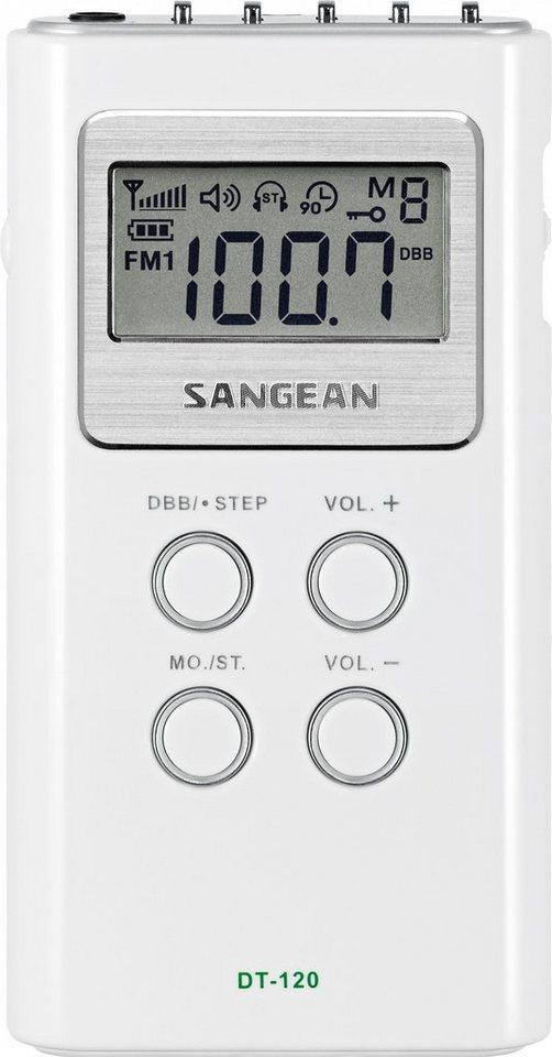 Sangean kompaktes Taschenradio (UKW/MW) »DT-120 weiß« in Weiß