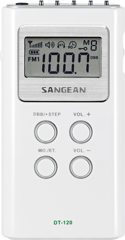 Sangean kompaktes Taschenradio (UKW/MW) »DT-120 weiß«