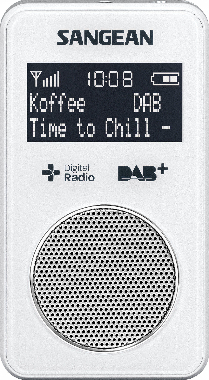 Sangean kompaktes Taschenradio (DAB+/UKW, inkl. Kopfhörer) »DPR-34+ weiß«