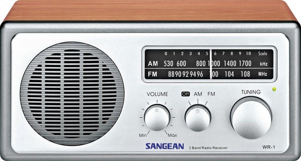 Sangean Desktop-Radio im eleganten Holzgehäuse »WR-1« in Braun