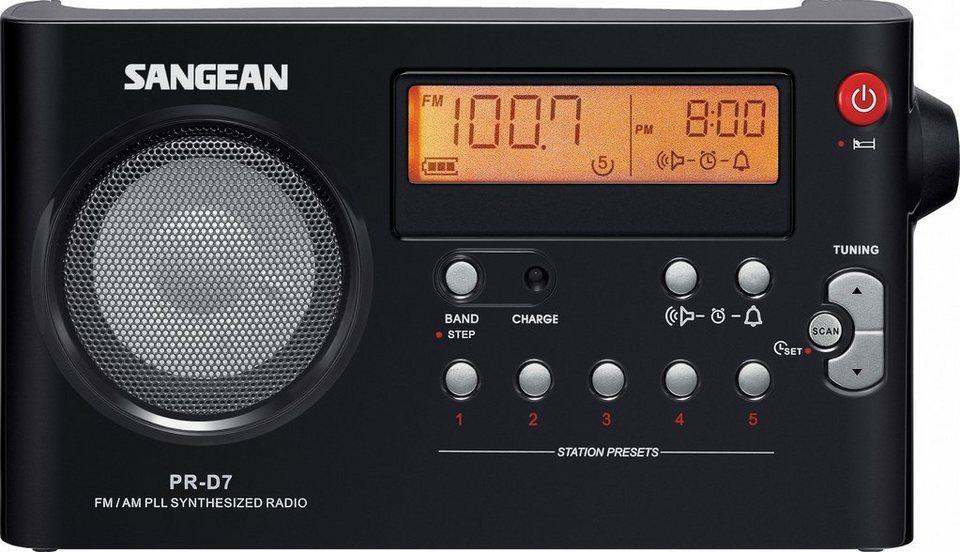 Sangean tragbares Radio (UKW/MW) »PR-D7 schwarz« in Schwarz