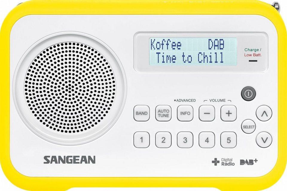 Sangean tragbares Digitalradio (DAB+/UKW) »DPR-67 weiß/gelb« in Gelb
