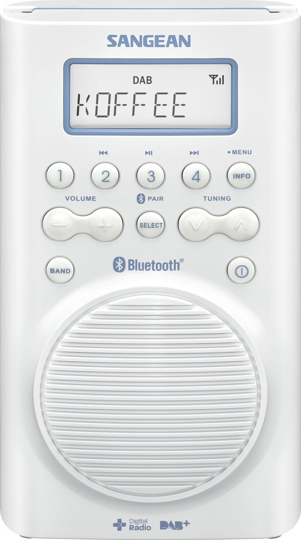 Sangean wasserdichtes Duschradio (Bluetooth, DAB+/UKW) »H-205D BT«